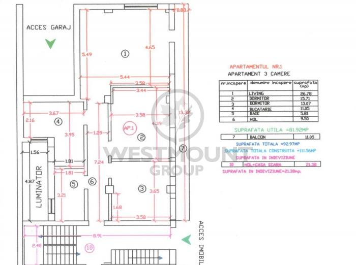 Apartament 3 camere Ion Mihalache (1 Mai) 15