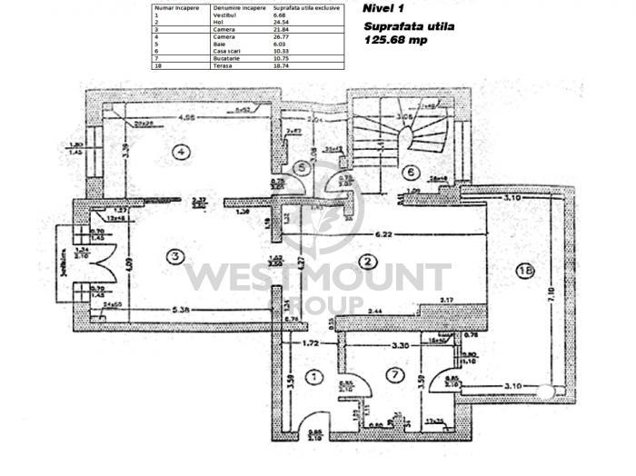 Apartament 5 camere Floreasca 12