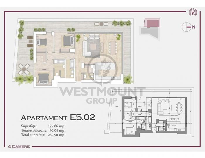 Apartament 4 camere P-ta Victoriei 15