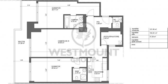 Apartament 3 camere Herastrau 13