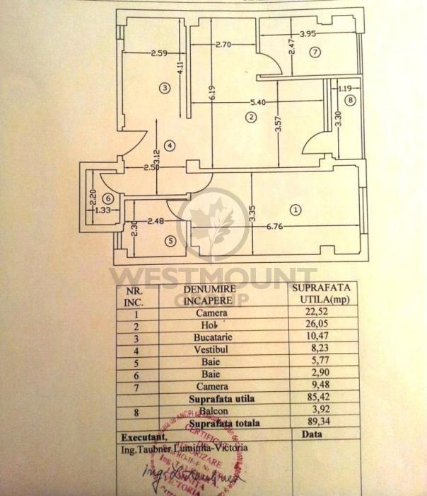 Apartament 3 camere Domenii (Casin) 13