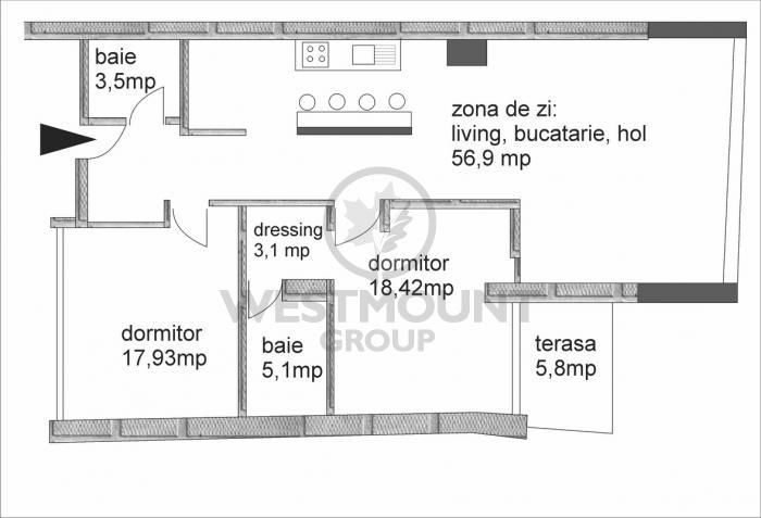 Apartament 3 camere Floreasca 11