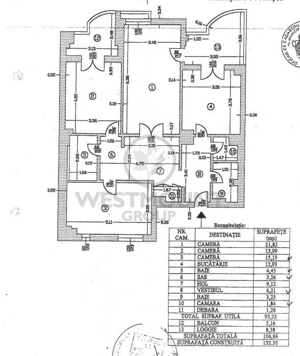 Apartament 3 camere P-ta Unirii 8